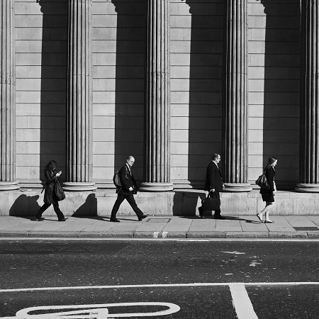 Bank workers, Chris Brown Flickr