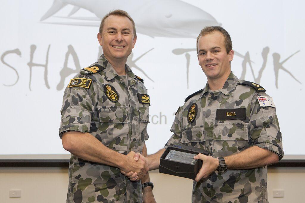 COMFAA presenting LS Shane Bell the inaugural FAAST 'Winners' Award.