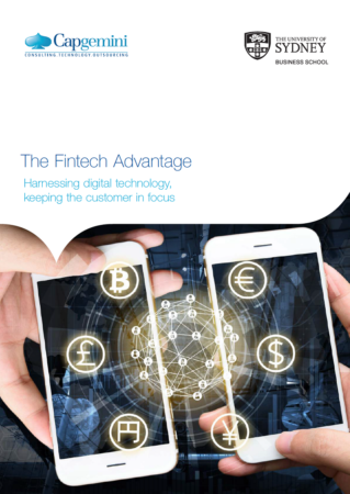 Fintech report co-authored by a team from the University of Sydney Business School's Digital Disruption Research Group and Capgemini Australia
