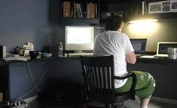 Remote workers struggle to be included in workplace decision making. Shane Adams/Flickr, CC BY-SA