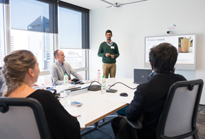 Student pitch their business ideas to Unilever – an industry collaboration for the undergraduate unit of study, The Future of Business