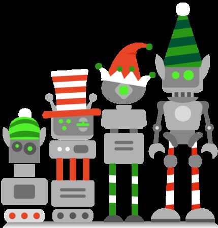 Robots at Christmas