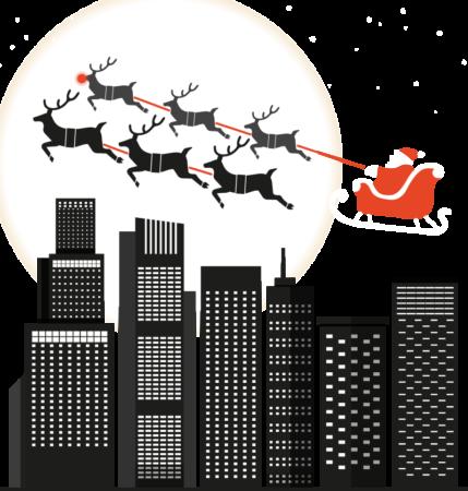 Santa and the city