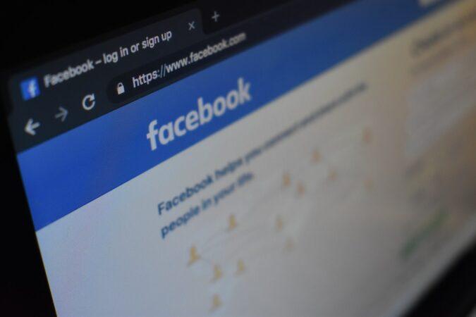 Photo of the Facebook login screen