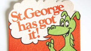 Image of an old St George bank coaster