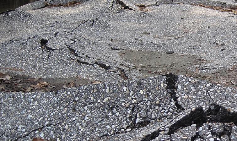 Image of a bumpy road (source: Flickr https://www.flickr.com/photos/cogdog/3518822177)