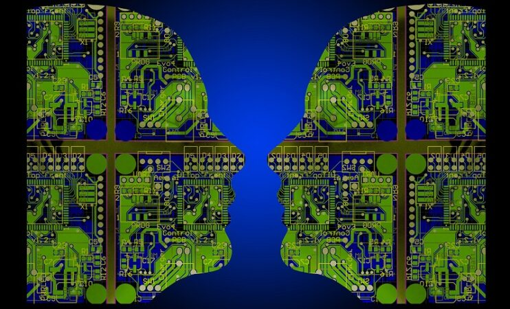 Image of two faces depicting artificial intelligence. Image from Flickr - Artificial intelligence (image: Flickr https://www.flickr.com/photos/alansimpsonme/34715802120)