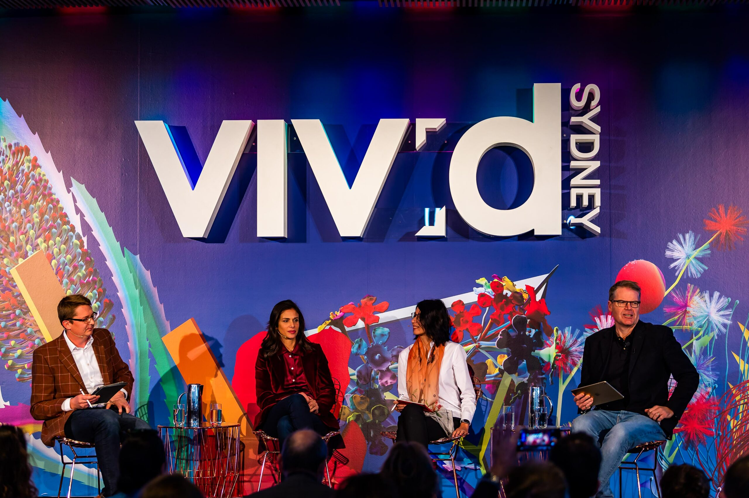 Image of the Mummy, can I marry my Avatar? event held as part of Vivid Sydney 2018 (image credit: Destination NSW)