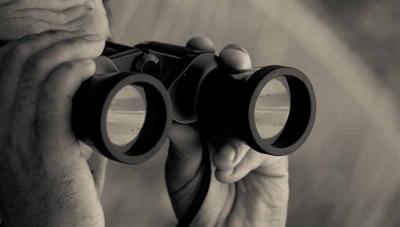 Image of a person looking through binoculars (image from Flickr: https://www.flickr.com/photos/edith_soto/7271415680)