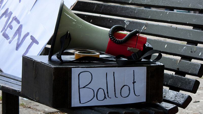 Ballot box image from Flickr by stevecooperorg