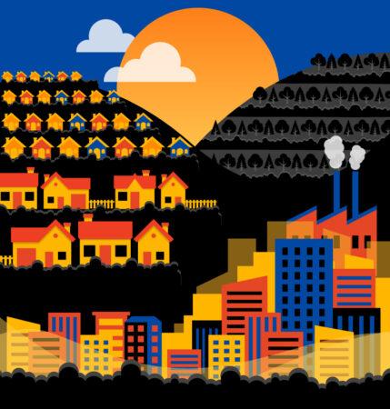 Illustration of urbanised environments