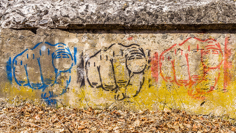 Image of pointing fingers painted on a wall. Image by Marcy Leigh (marcyleigh) from Flickr