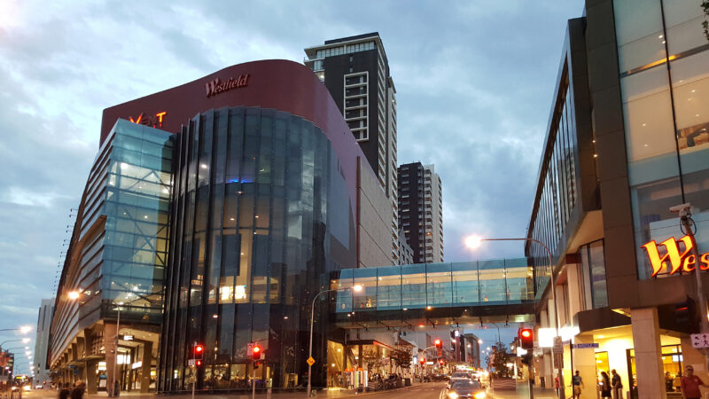 Photo of Westfield Parramatta in the evening