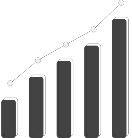 Illustration of a bar and line graph