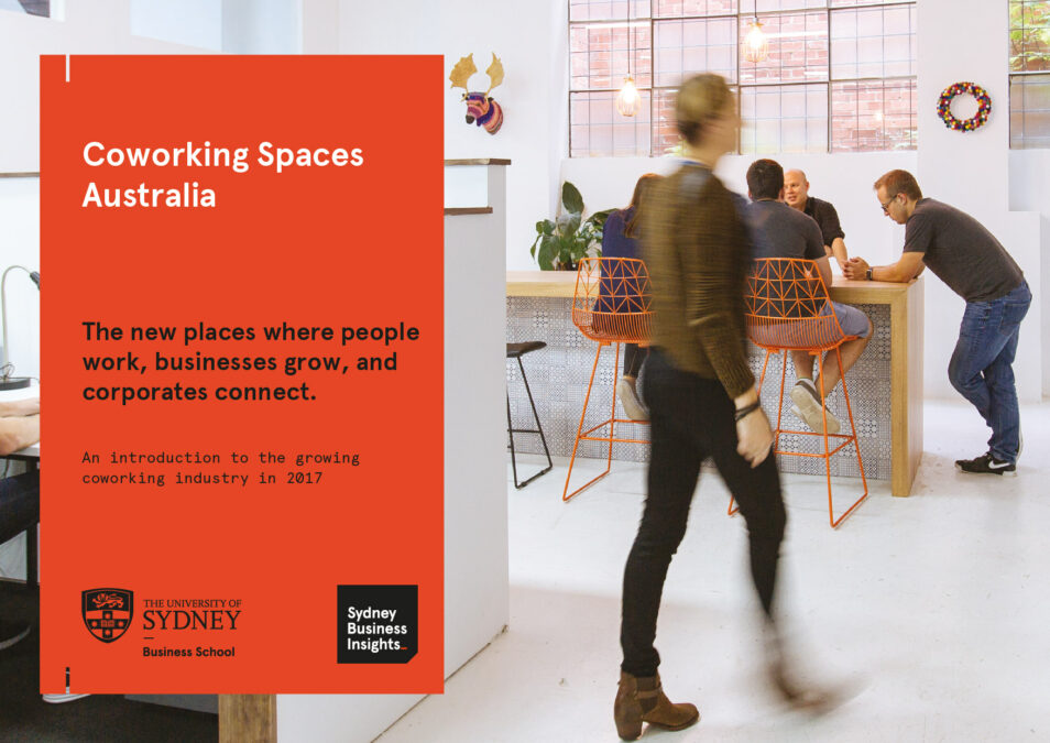 Cover of the Coworking Spaces Australia report