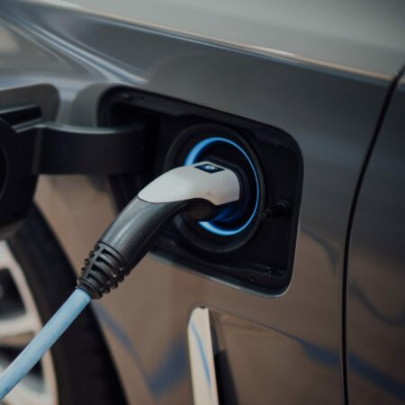 an electric car being charged